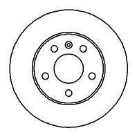 Тормозной диск задний ASTRA H (5 отверстий) NK