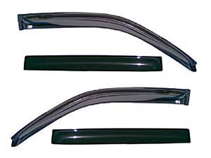 Дефлекторы боковых окон 4 части темные EGR (Только для 5-дверных хэтчбеков Astra-H)