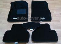 Коврики салона текст Astra J/Chevrolet Cruze чёрные 3D Lux